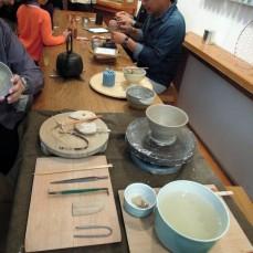 The craftsmen at work