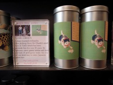 Tailor-made paper labels are created for each type of tea