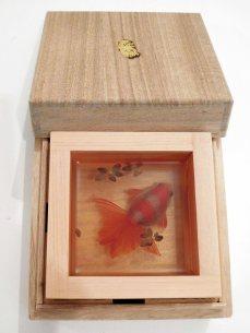 Sake cup with goldfish