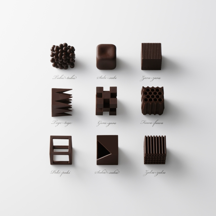 Chocolate Textures from Nendo